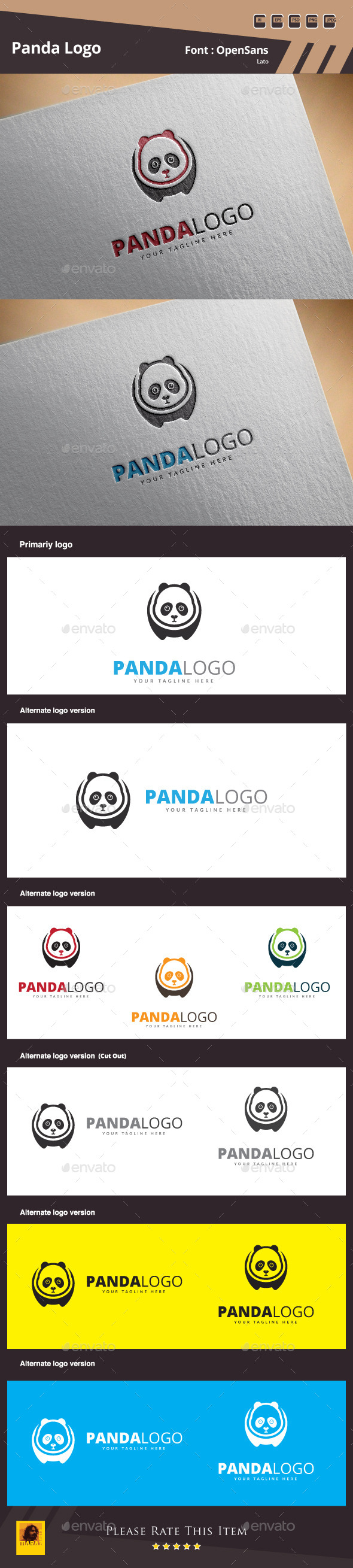 GraphicRiver Panda Logo Template 10589620
