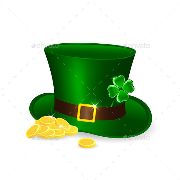 GraphicRiver Leprechauns Hat and Coins 10589775