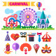 Carnival in Amusement Park - GraphicRiver Item for Sale