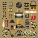 Retro Set in Flat Style - GraphicRiver Item for Sale