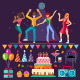 Party Night Club with People Dancing - GraphicRiver Item for Sale
