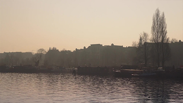 Waterfront In Morning Haze