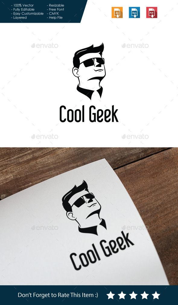 GraphicRiver Cool Geek Logo 10590417