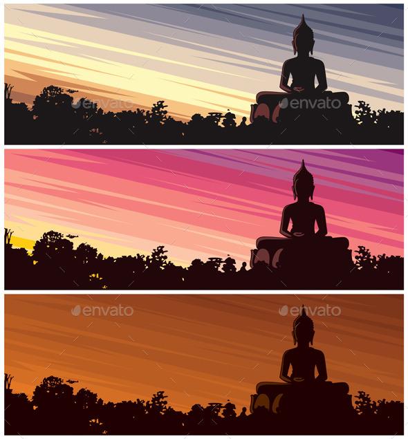 GraphicRiver Buddha Dusk 10590495