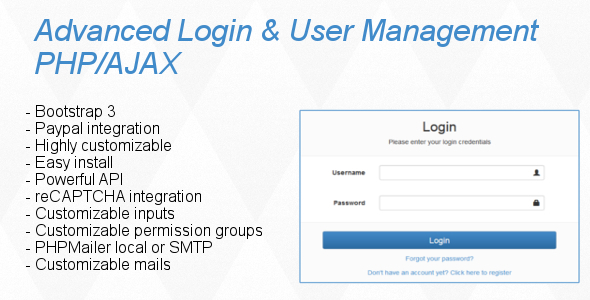 CodeCanyon Advanced Login & User Management PHP AJAX 10527443