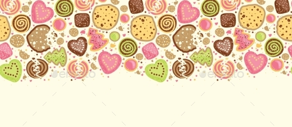 GraphicRiver Cookies Horizontal Seamless Pattern 10590862