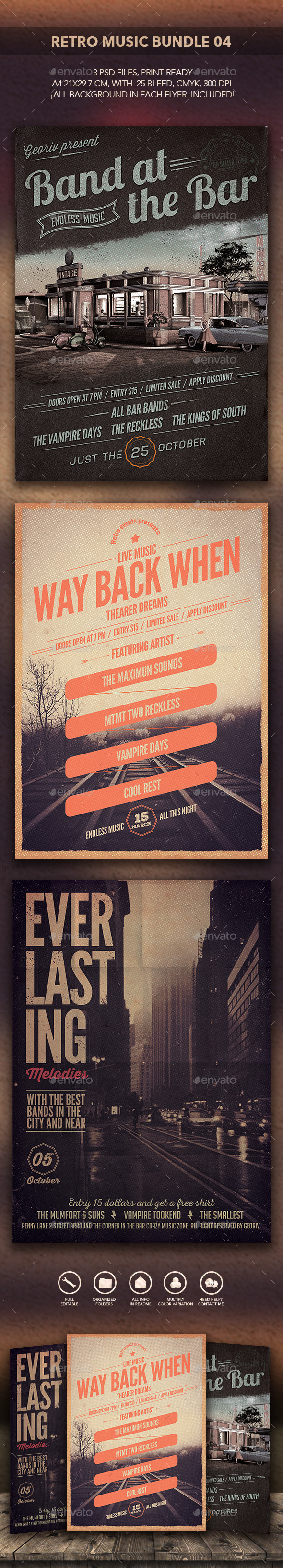 GraphicRiver Retro Music Bundle 04 10590875