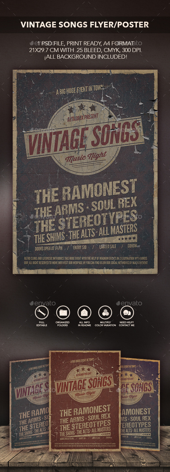 GraphicRiver Vintage Songs Flyer Poster 10590958