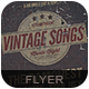 Vintage Songs Flyer Poster - GraphicRiver Item for Sale