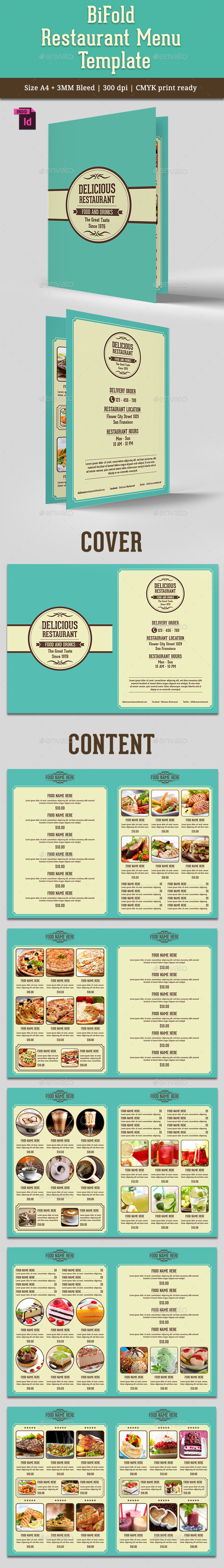 GraphicRiver BiFold Restaurant Menu Vol 6 10591023