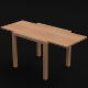 Extended Table (low poly, uv unwrapped, textured) - 3DOcean Item for Sale