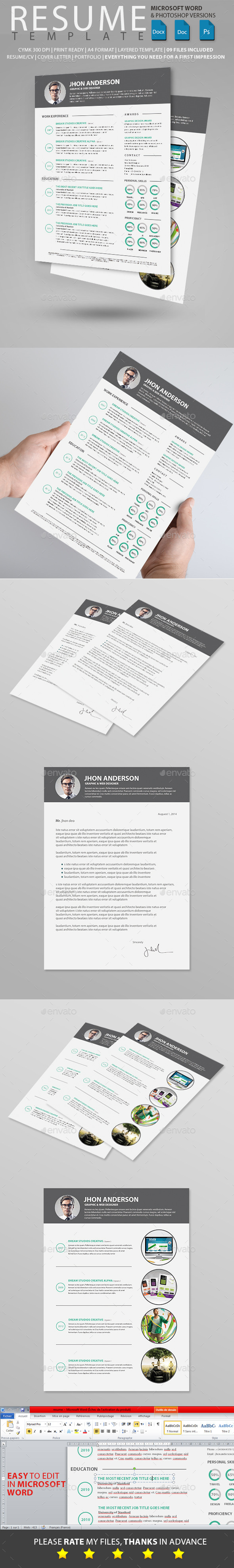 GraphicRiver Resume 10591047