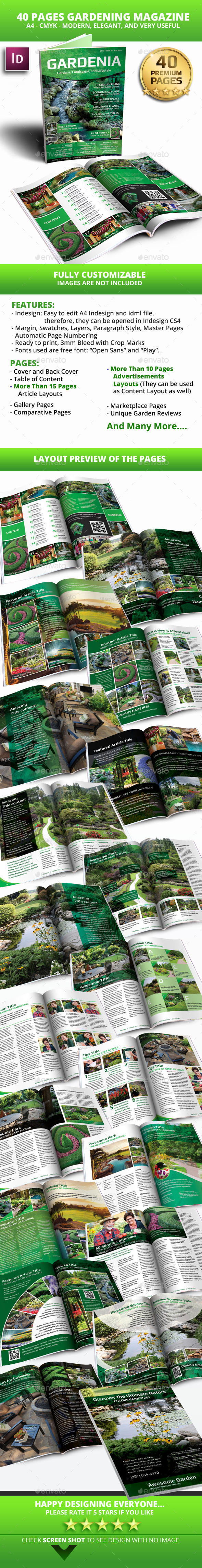 GraphicRiver 40 Pages Gardenia Modern Magazine Template 10530634