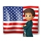 An American Flag with a Boy  - GraphicRiver Item for Sale
