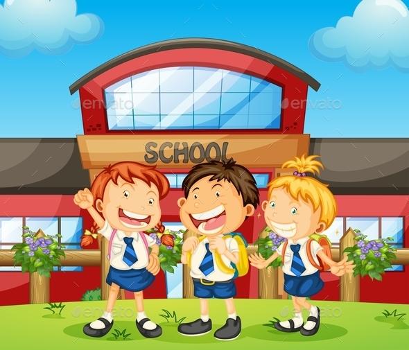 GraphicRiver Three Happy Students 10591911