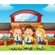 Three Happy Students  - GraphicRiver Item for Sale