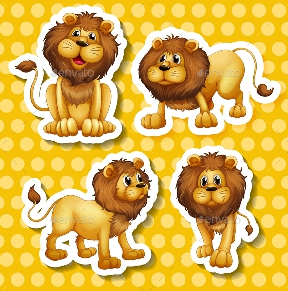 GraphicRiver Lion Set 10591953