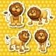 Lion Set  - GraphicRiver Item for Sale