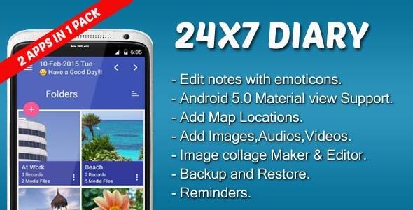 CodeCanyon 24X7 Diary 10591996