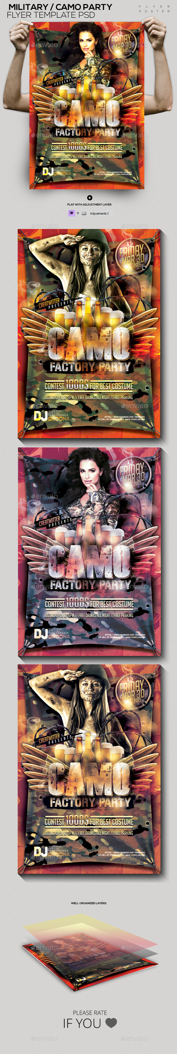 GraphicRiver Military Camo Template PSD Flyer Poster 10592007