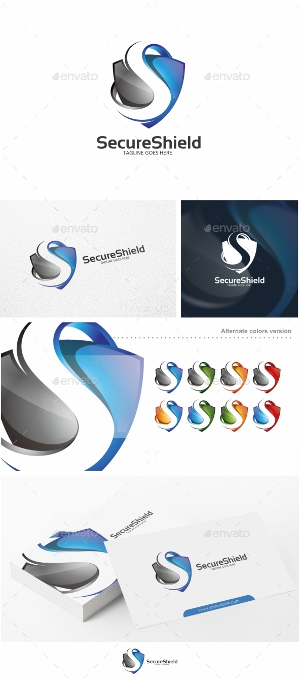 GraphicRiver Shield S Letter Logo Template 10592069