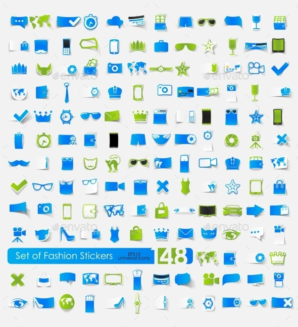 GraphicRiver Fashion Stickers 10592259