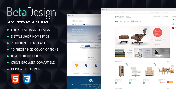 ThemeForest Beta Design WooCommerce WP Theme 10592275