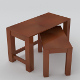 Small, side tables (low poly, uv unwrapped, textur - 3DOcean Item for Sale