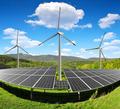 Solar energy panels with wind turbines - PhotoDune Item for Sale