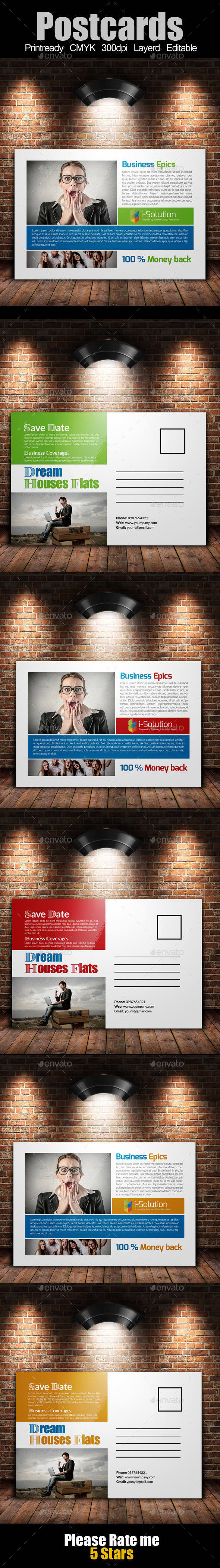 GraphicRiver Multi Use Business Post Cards 10592515