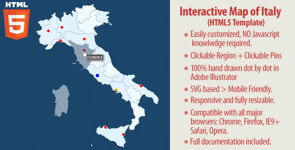 CodeCanyon Interactive Map of Italy HTML5 10592693