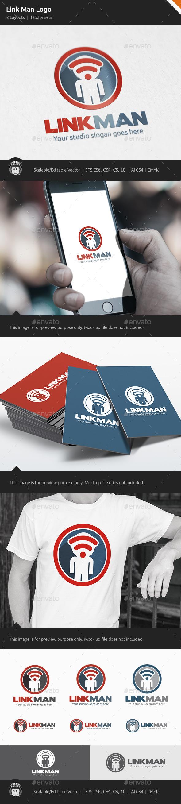 GraphicRiver Link Man Logo 10592770