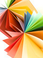 origami colored paper fan - PhotoDune Item for Sale