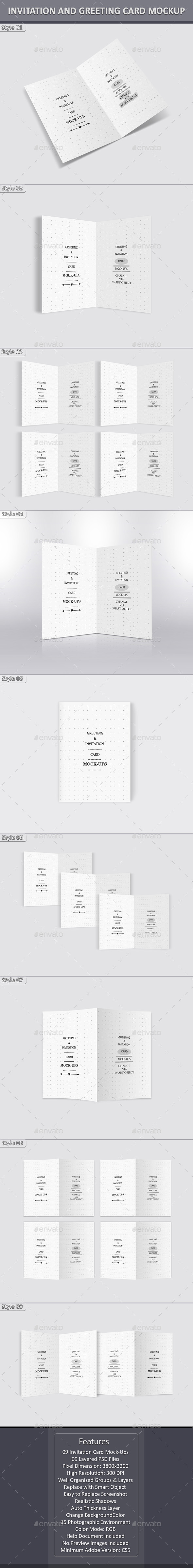 GraphicRiver Invitation and Greeting Card Mockup 10593178