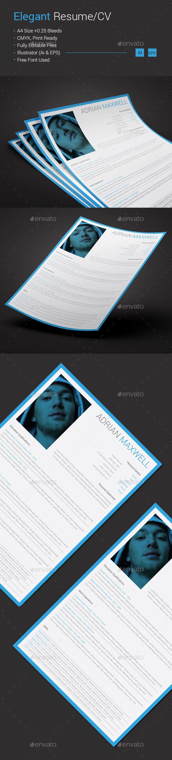 GraphicRiver Elegant Resume CV 10593274