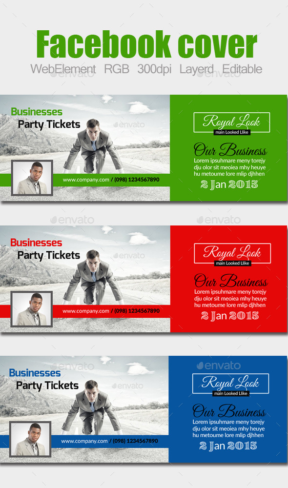 GraphicRiver Multi Use Business Facebook Cover 10593455