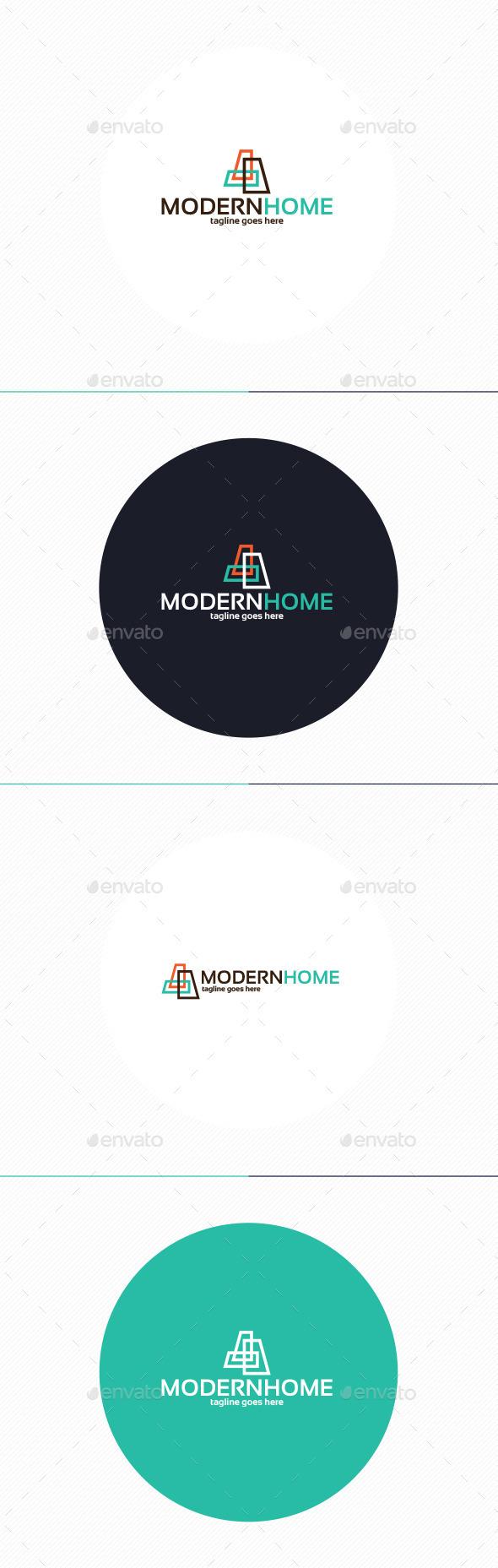 GraphicRiver Modern Home Logo 10593485