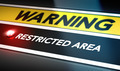 Restricted Area Sign - PhotoDune Item for Sale
