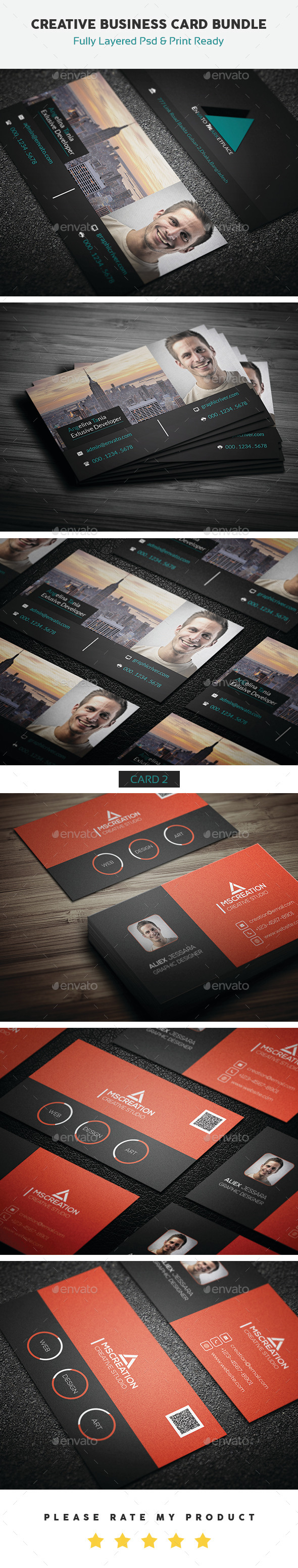GraphicRiver Creative Business Card Bundle 10593612