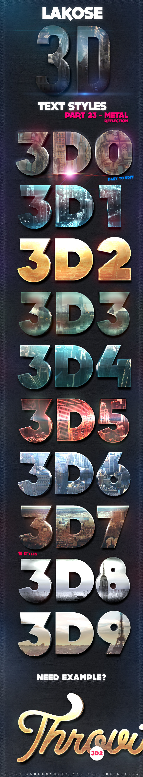 Lakose 3D Text Styles Part 23
