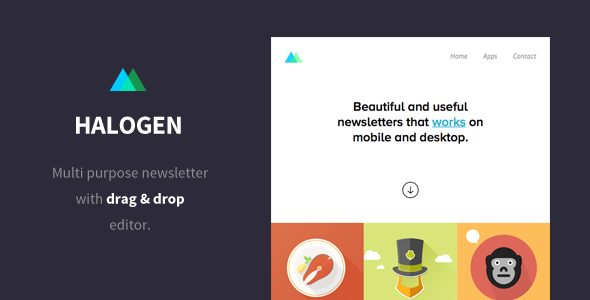 ThemeForest Halogen Email Template & Builder Access 10593728