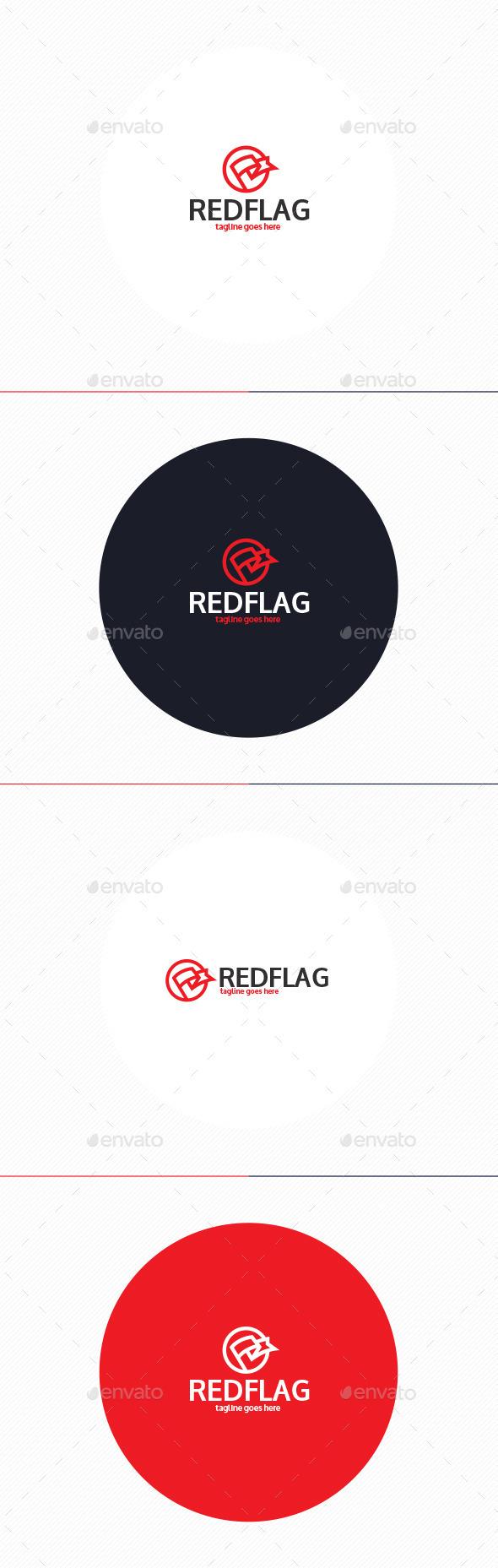 GraphicRiver Red Flag Logo 10593765