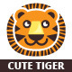 Cute Tiger Logo Template - GraphicRiver Item for Sale