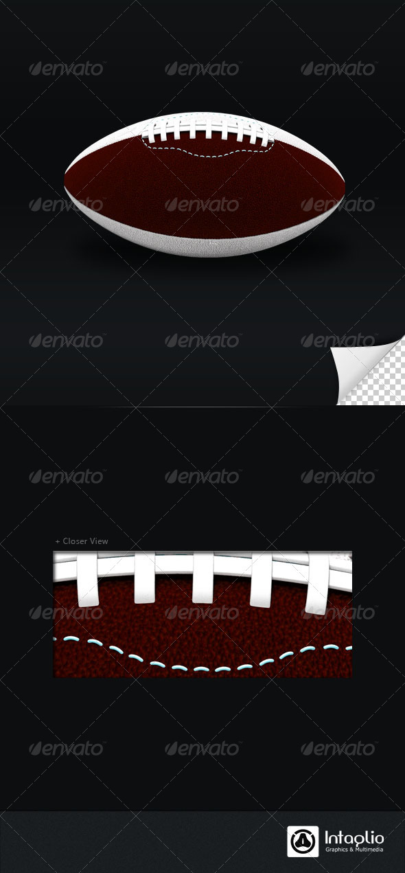 American Foot Ball 3D Render - 3D Backgrounds