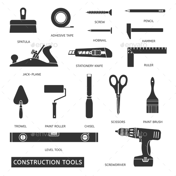 GraphicRiver Construction Tools Set 10594397