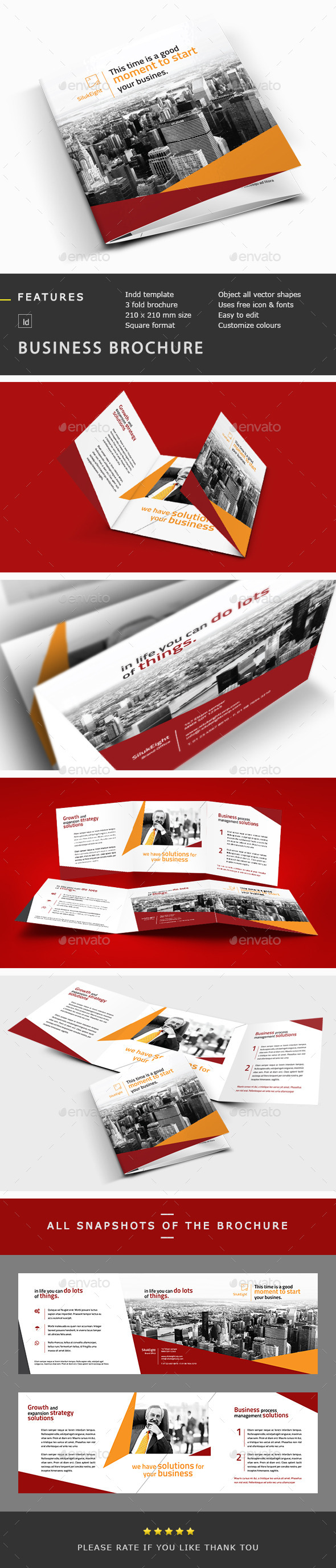 GraphicRiver Business Corporate Trifold Brochure Template 10594481