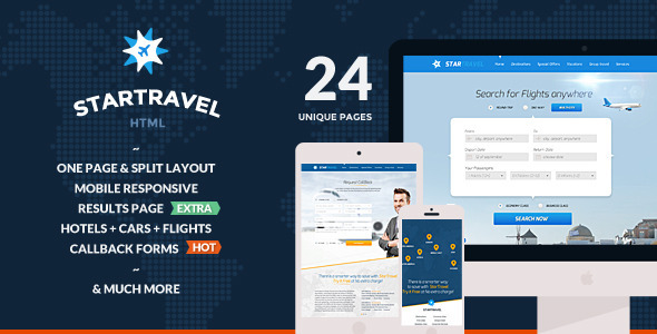 ThemeForest StarTravel Online Booking Travel Responsive HTML 10594669