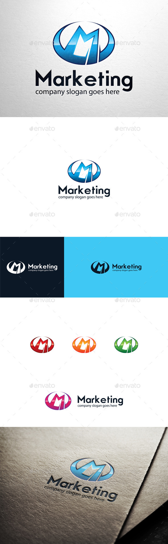 GraphicRiver Marketing Letter M Logo 10594758