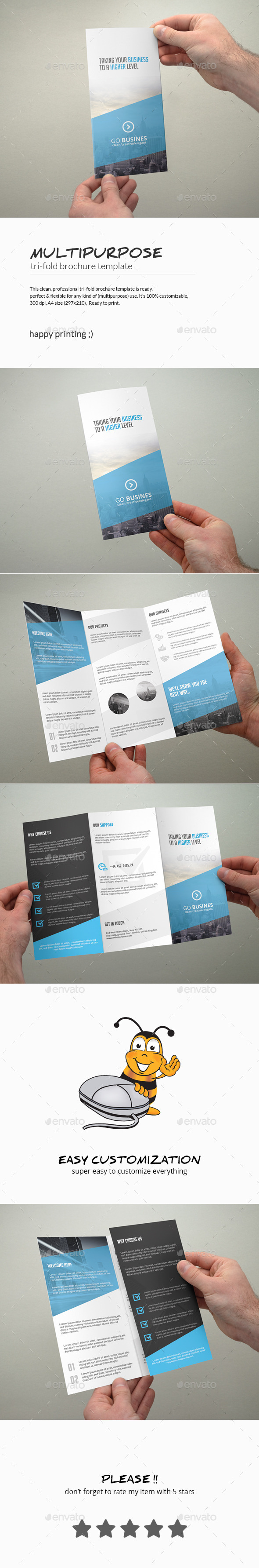 GraphicRiver Tri-Fold Brochure Multipurpose 10594888