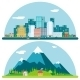 Spring Urban and Countryside Landscape - GraphicRiver Item for Sale